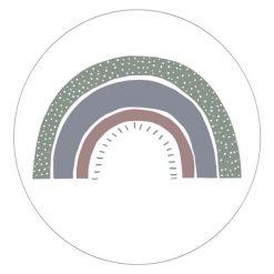 Muurcirkel regenboog Petrol