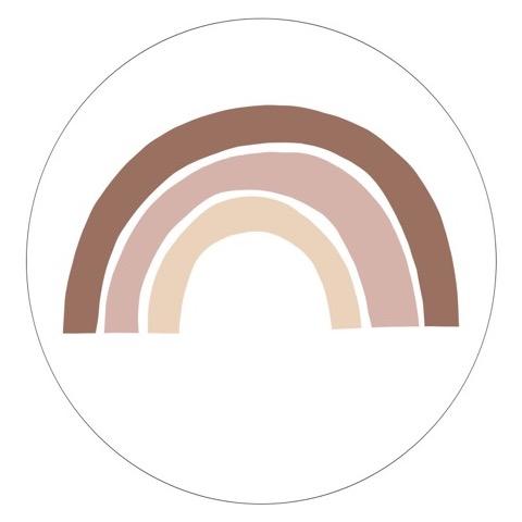Muurcirkel naturel Oud roze