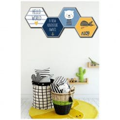 Kinderkamer met hexagons adventure