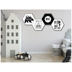 Kinderkamer Hexagons adventure monochrome