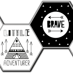 Adventure monochrome hexagons