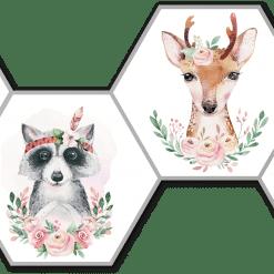 Hexagons bosdieren Boho