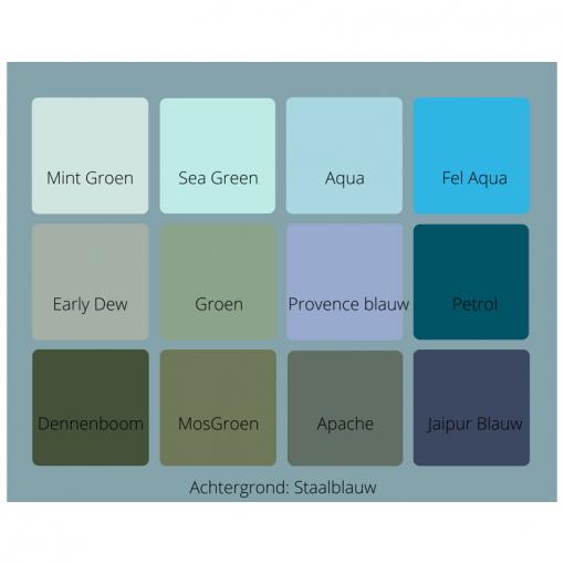 Kleurenkaart Blauw Groen