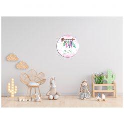 Kinderkamer muur met bohemian cirkel