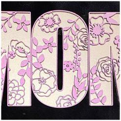 Houten Deco Letters bloemenfestijn