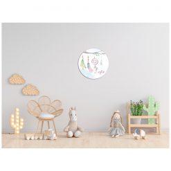 Kinderkamer muur met bohemian muurcirkel met naam