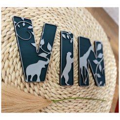 Houten Deco Naam - Lettertype Jungle