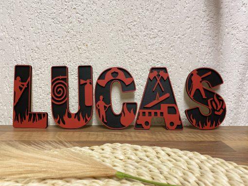 Brandweer deco letters