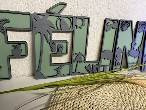 Houten Deco letters strand thema