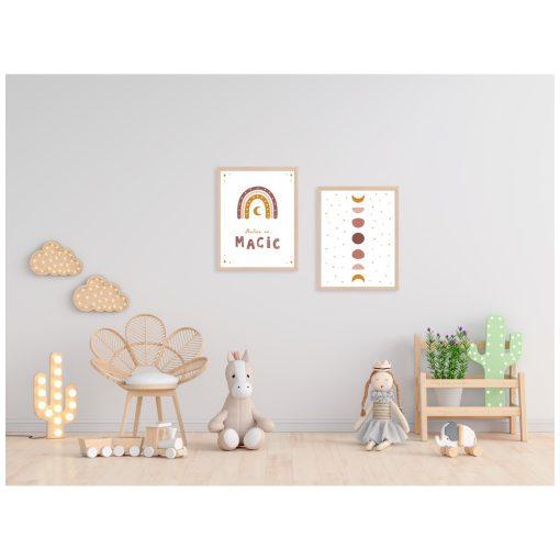 Kinderkamer muur met Rainbow posters