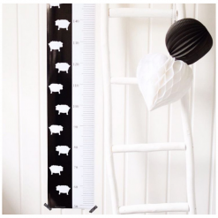 Kinderkamer met schaapjes Lengteposter