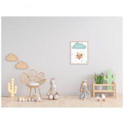 Kinderkamer met poster Brave - Vos