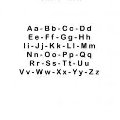 Houten Letters Basic lettertype