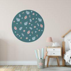Flamingo Kinderkamer met behangcirkel