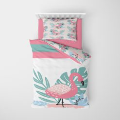 Kinderkamer Flamingo thema, dekbedovertrek