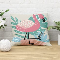 Sierkussen meidenkamer flamingo