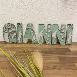 Decoratieve houten Letters Jungle