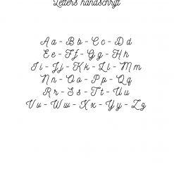 Letters Handschrift