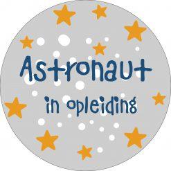 Kinderkamer muurcirkel ruimte thema astronaut in opleiding