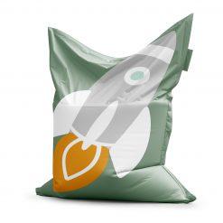 Zitzak kinderkamer ruimte - space thema groen