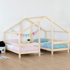 Kinderkamer met bedhuis Villy - 2 bedden onder 1 dak