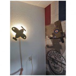 wandlamp kinderkamer vliegtuig