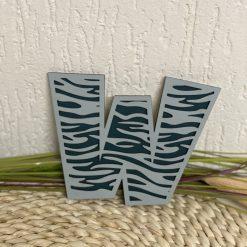 Houten deco letters zebra
