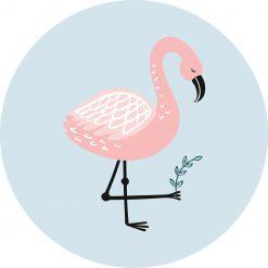 Muurcirkel flamingo kamer
