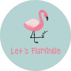 Muurcirkel Flamingo's