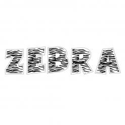 Houten Deco letters - zebra