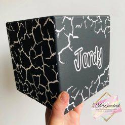 Houten Spaarpot XXL - Crackle Design