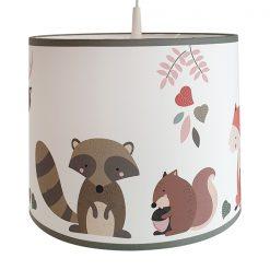 Hanglamp Kinderkamer Bosdieren herfstkleuren