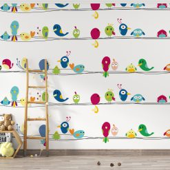 Kinderkamer behang met vogeltjes