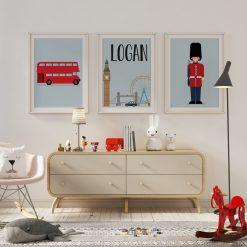 Kinderkamer met posters Londen